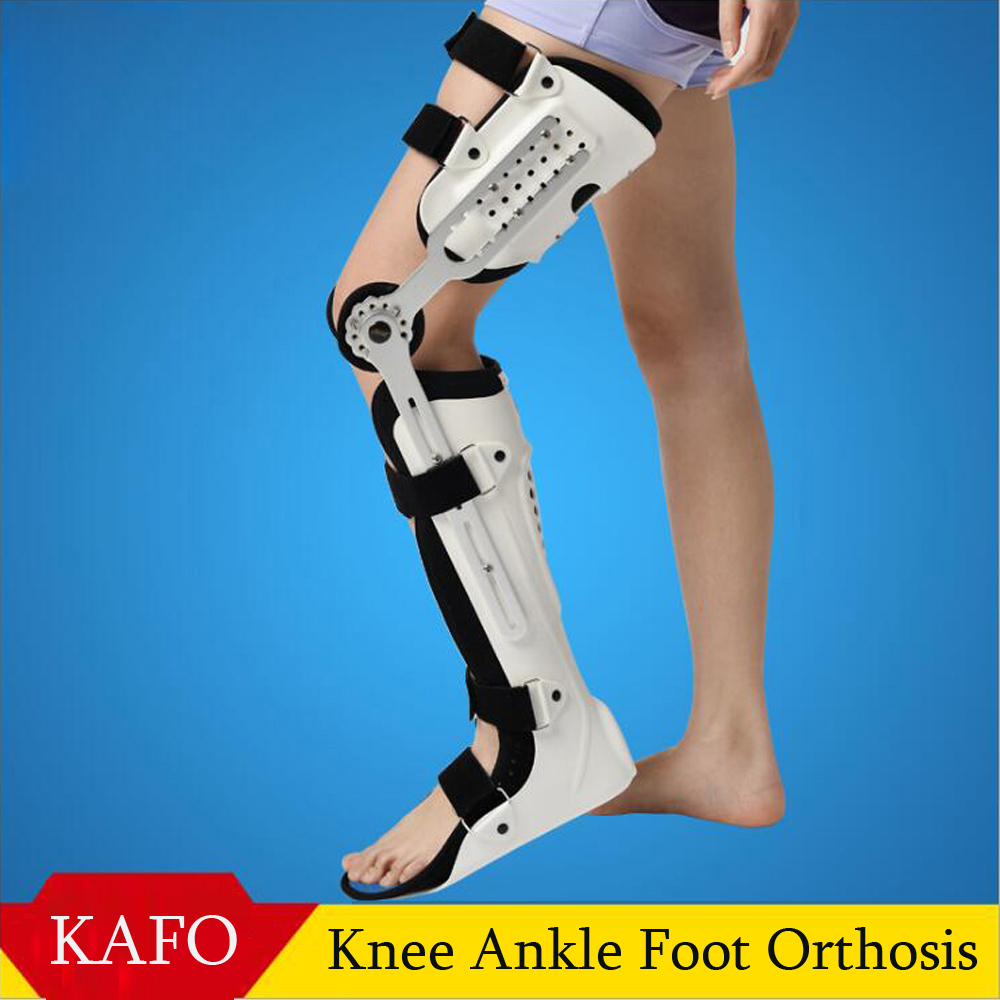 Knee Ankle Foot Orthosis KAFO Brace Fixed Rigid Thigh Knee Joint Ankle Foot Spport And Ankle Fixator Leg Orthotics