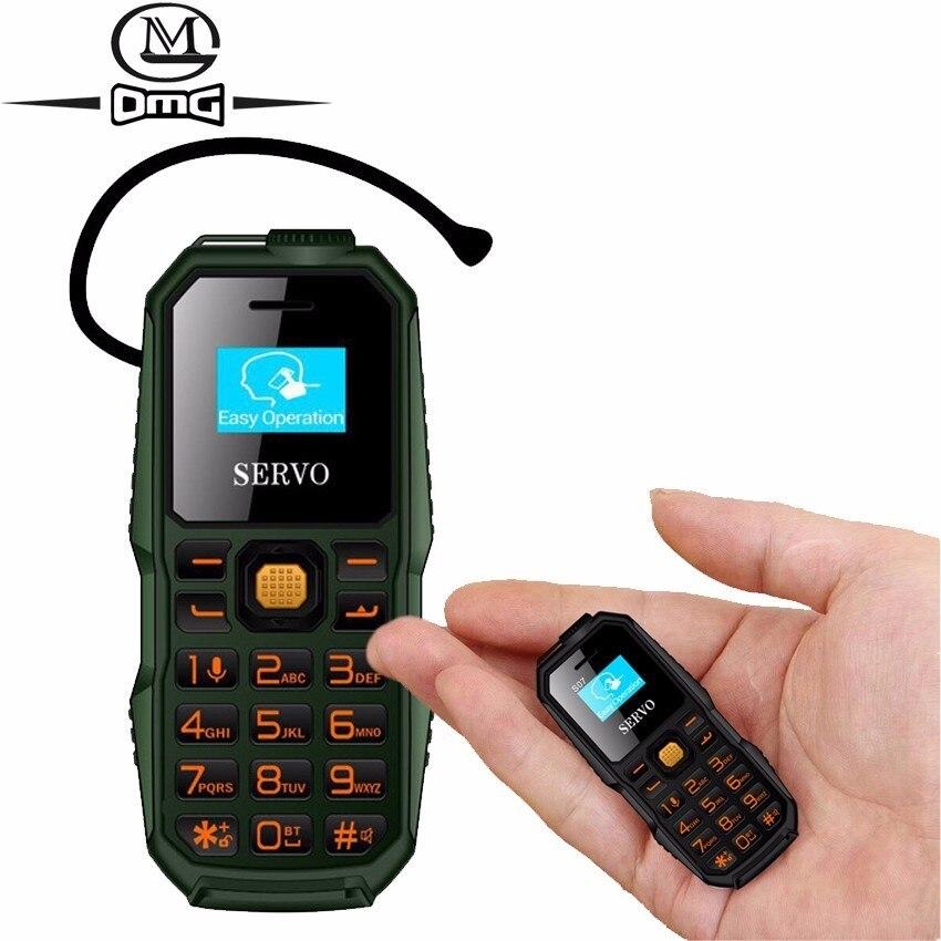 ddc256823e7 Russian keyboard Bluetooth Dialer mini mobile phone SERVO S07 Low Radiation  Dual SIM Bluetooth Earphone Smallest cell Phones-in Mobile Phones from ...