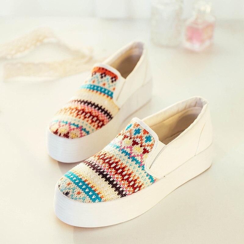 Aliexpress.com Comprar Mujeres moda Casual Zapatos mocasines De lona, para Mujer De la plataforma plana con alpargatas, Zapatos De Mujer Zapatos Casual 8