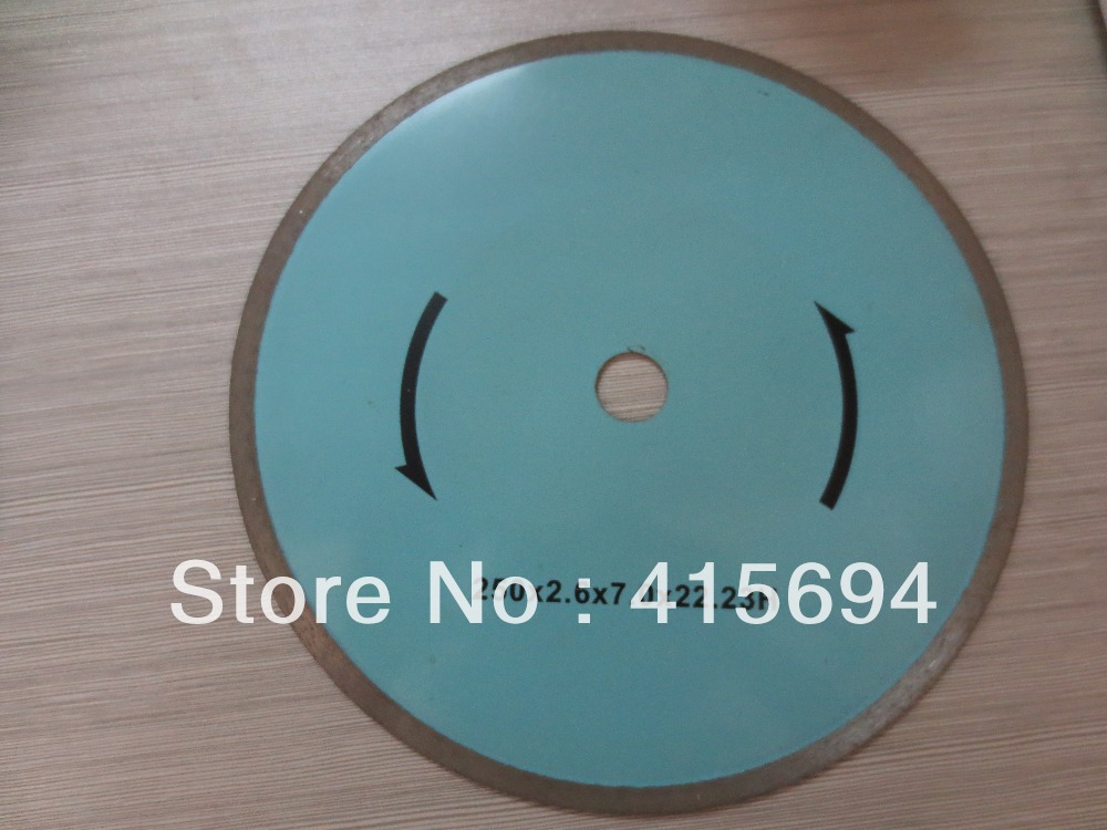250x7x22.23-15.88mm cold press continuous rim diamond saw blade for tiles,<font><b>ceramic</b></font>,and marble
