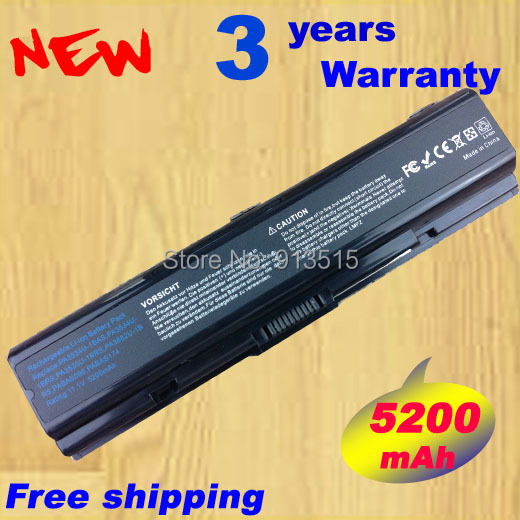 5200mAh 6 Cells NEW Battery For Toshiba Satellite A300 A305 PA3534U-1BRS, Free shipping