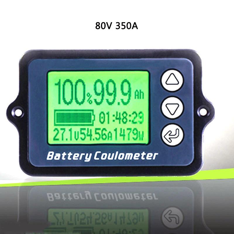 Indicateur de capacité de la batterie du compteur Coulomb 80 V 350A indicateur de niveau de puissance coulomètre testeur de batterie au Lithium professionnel