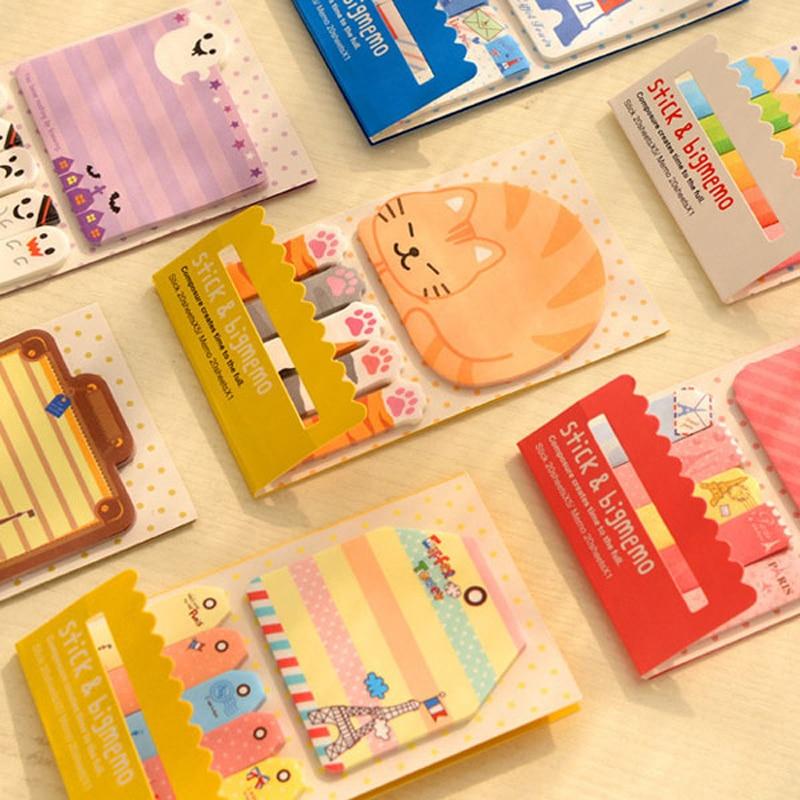 1X Lucu Kawaii Kartun Panda Burung Kucing Self-Adhesive Memo Pads - Notebook dan menulis bantalan - Foto 2