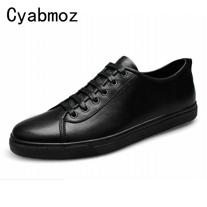 Fashion Handmade Men Deluxe Black Lace-up Casual Shoes Men's Genuine Leather Flats Shoes Scarpe Sportive Zapato Big Size 38-47 zjnnk hot sale genuine leather men casual shoes black brown men flats handmade men father shoes lace up men shoes dropship h825