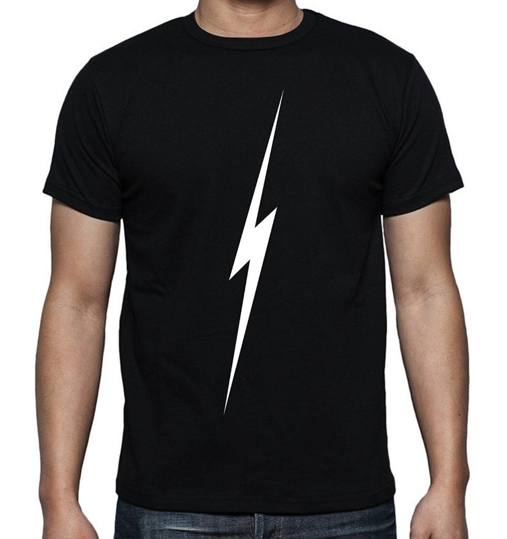 Design t shirt sell - 2017 Fashion Hot Sell 100 Cotton Casual Streetwear Men S Printed Lightning Thunder Graphic Design T Shirt