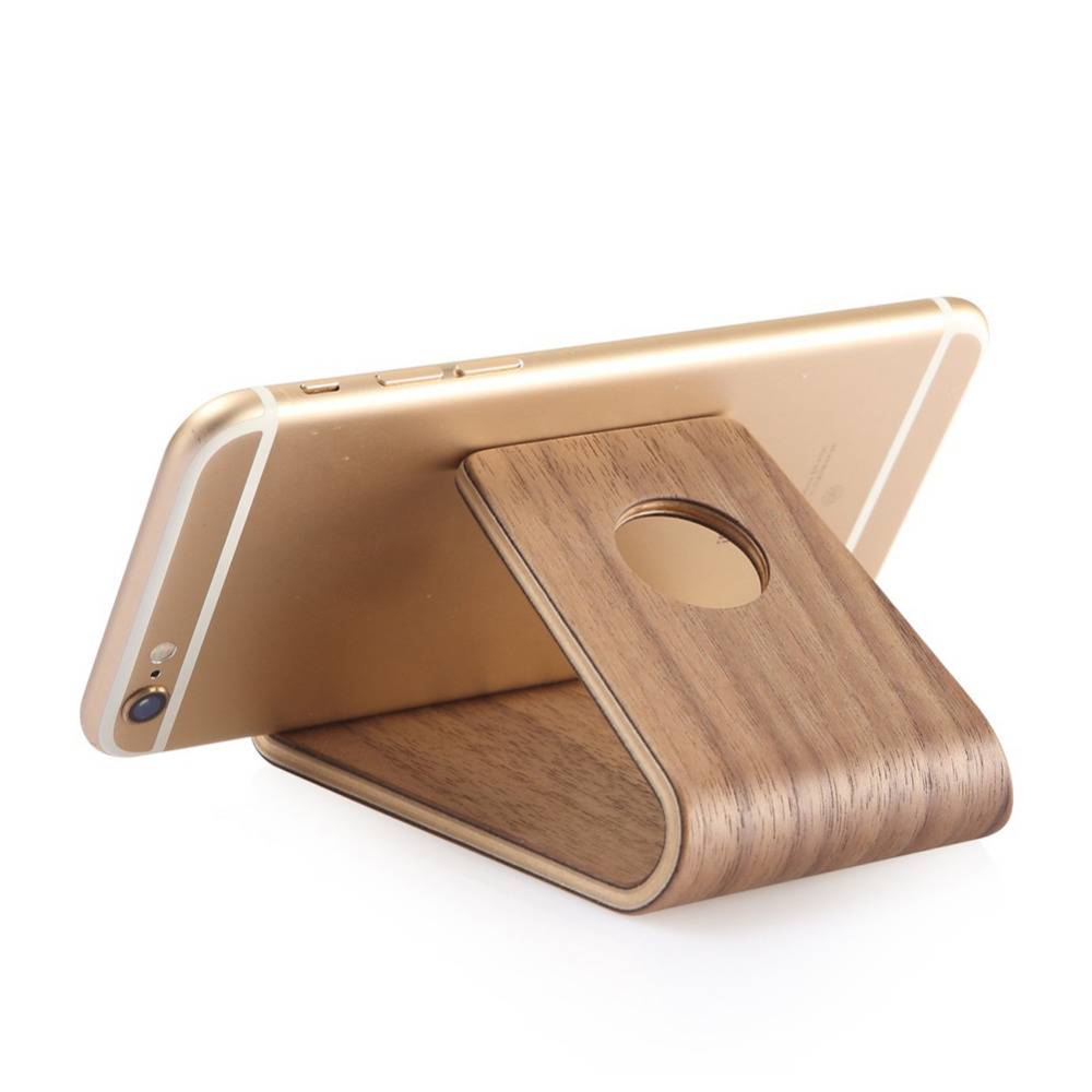 Universal Wood Desk Holder Table Stand for iPhone Samsung Huawei Xiaomi Gift ...