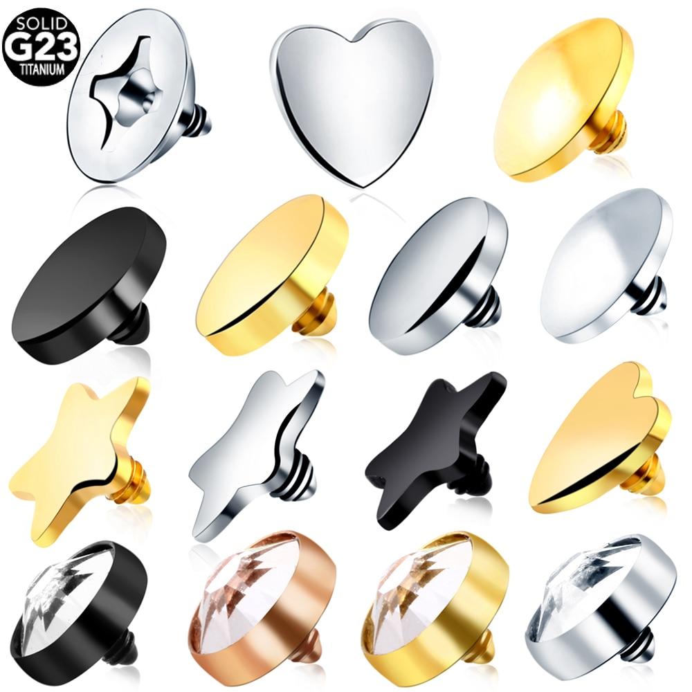 1 шт., титановый дермальный анкер класса G23, топ, микродермальные драйверы, поверхность, дермальный пирсинг, титановый комплект, пирсинг, Коль...