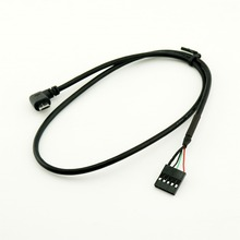 10 cái Micro USB Nam Góc Bên Phải để Dupont 5 Pin Nữ Tiêu Đề Cáp Bo Mạch Chủ 50 cm/1.5ft