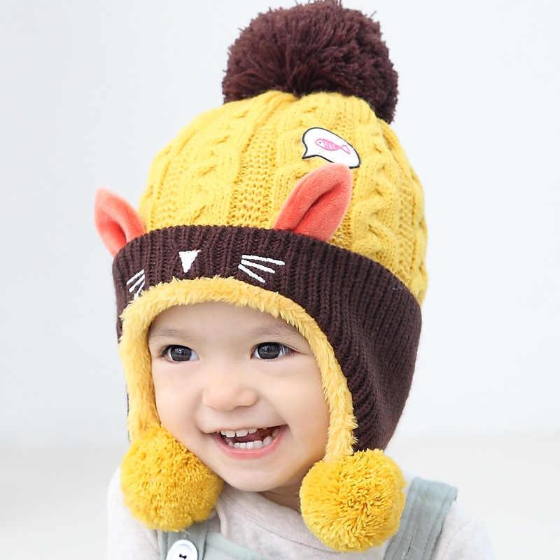 Cute Baby Winter Hat Warm Infant Beanie Cap For Children Boys Girls Animal  Cat Ear Kids 2026951470ac