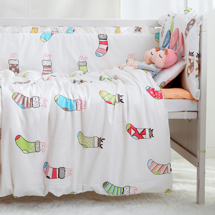 7PCS full Set Cot Baby Bedding Set 100% Cotton Crib Around Safe Crib Bumpers Detachable Baby Bed ,(4bumper+sheet+duvet +pillow) promotion 6pcs baby bedding set cot crib bedding set baby bed baby cot sets include 4bumpers sheet pillow