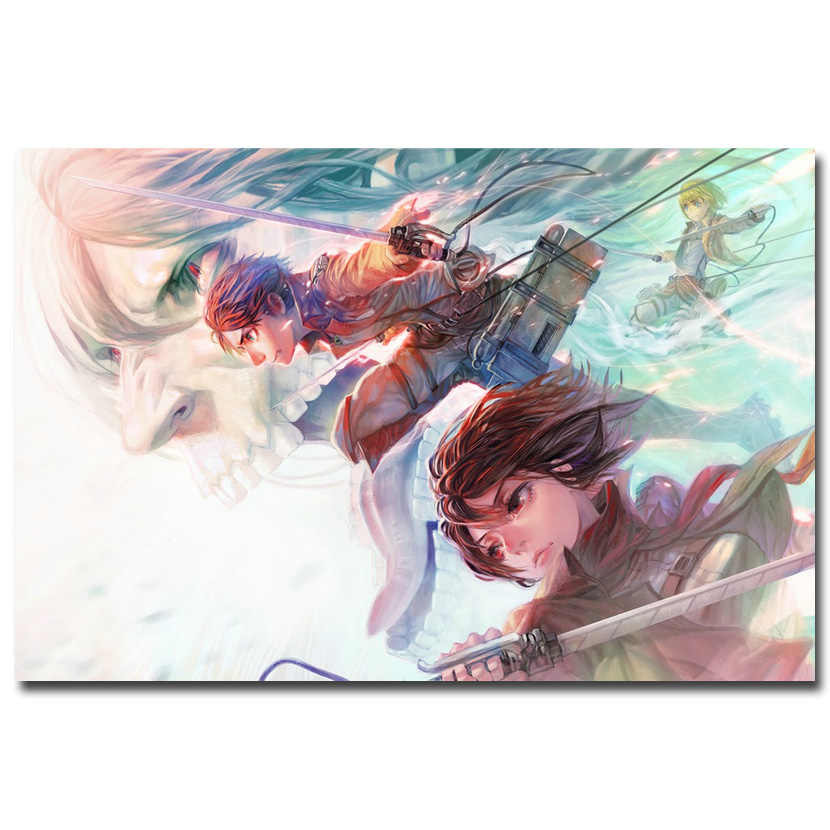 Attack On Titan 1 2 Mikasa Ackerman Anime Art Silk Fabric Poster Print 12x18 20x30 24x36 Inches Pictures For Room Decor 020