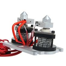 Geeetech двойной головкой экструдер 0.3 мм — 1.75 мм сопла-профессиональные MakerBot dualstrusion, Конца Replicator для 3d-принтер RepRap Prusa мендель