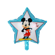 5psc New high quality five-pointed star Mickey aluminum balloons childrens toy party birthday balloon