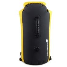Outdoor35L Professional IPX7 Waterproof Swimming Bag Inflatable Waterproof Dry Bag Rafting Kayaking Canoeing Backpack