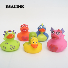 5pcs child cognitive floating bath toy  safe and non-tioxic materials Four colors of dinosaur duck yellow Creative