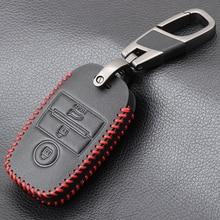 VCiiC Leather Car Key Cover Case For Kia Ceed Rio Sportage R K3 K4 K5 Ceed Sorento Cerato Optima 2015 2016 2017 2018 Key Case