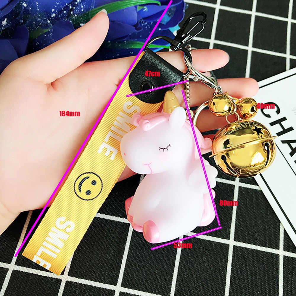 Fantasia & Fantasy Rainbow Unicorn Animal Keychain Sino Para Ornamento Do Saco Da Bolsa Das Mulheres Dos Homens Chaveiro Decoração Acessório Presente