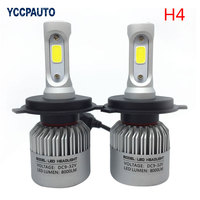 2PCS H4 H7 H11 H13 9005 9006 9007 LED Auto Car Headlight Bulb High Low Beam
