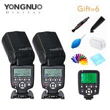 Yongnuo 2 stücke YN560III 5600 karat Speedlite + YN560-TX Wireless-Controller und Trigger Für Canon Nikon DSLR Kameras