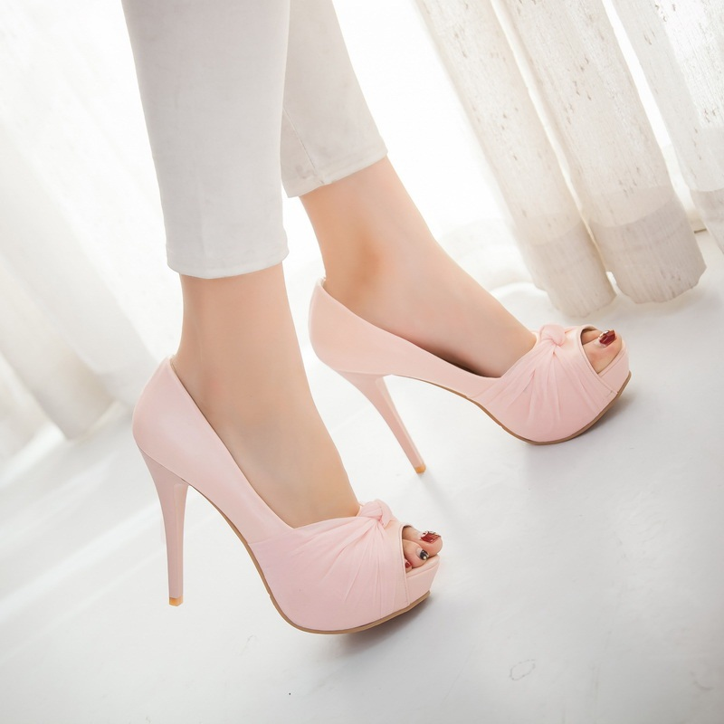 MORAZORA Hot sale new shoes woman pumps big size 33-43 platform shoes high heel 12cm wedding shoes elegant peep toe 3