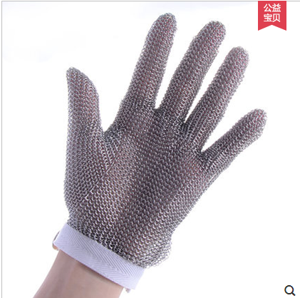 100% real stainless steel anti cut gloves food processing Glass cutting guantes corte cut resistant level 5 gloves steel ring stainless steel glove butcher cut resistant gloves level 5 work chain mail armor