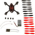 Hubsan X4 H107C FPV Quadcopter Spare Parts Crash Pack Black & Red Drone Spare Parts Crash Pack