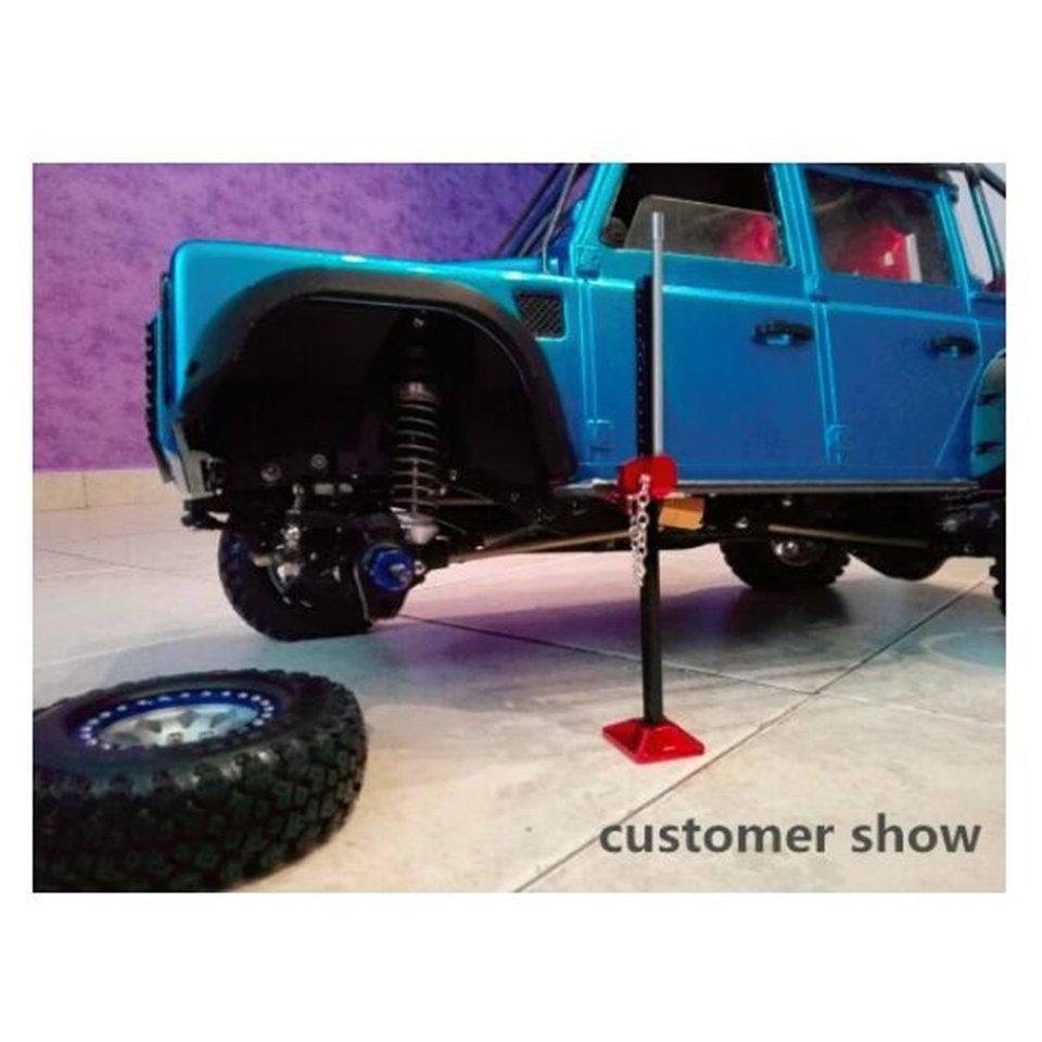 INJORA 2PCS RC Crawler 1:10 Accessories Metal Jack Stand Repairing Tool for Axial SCX10 Tamiya CC01 RC4WD D90 D110 TF2 RC Car Truck