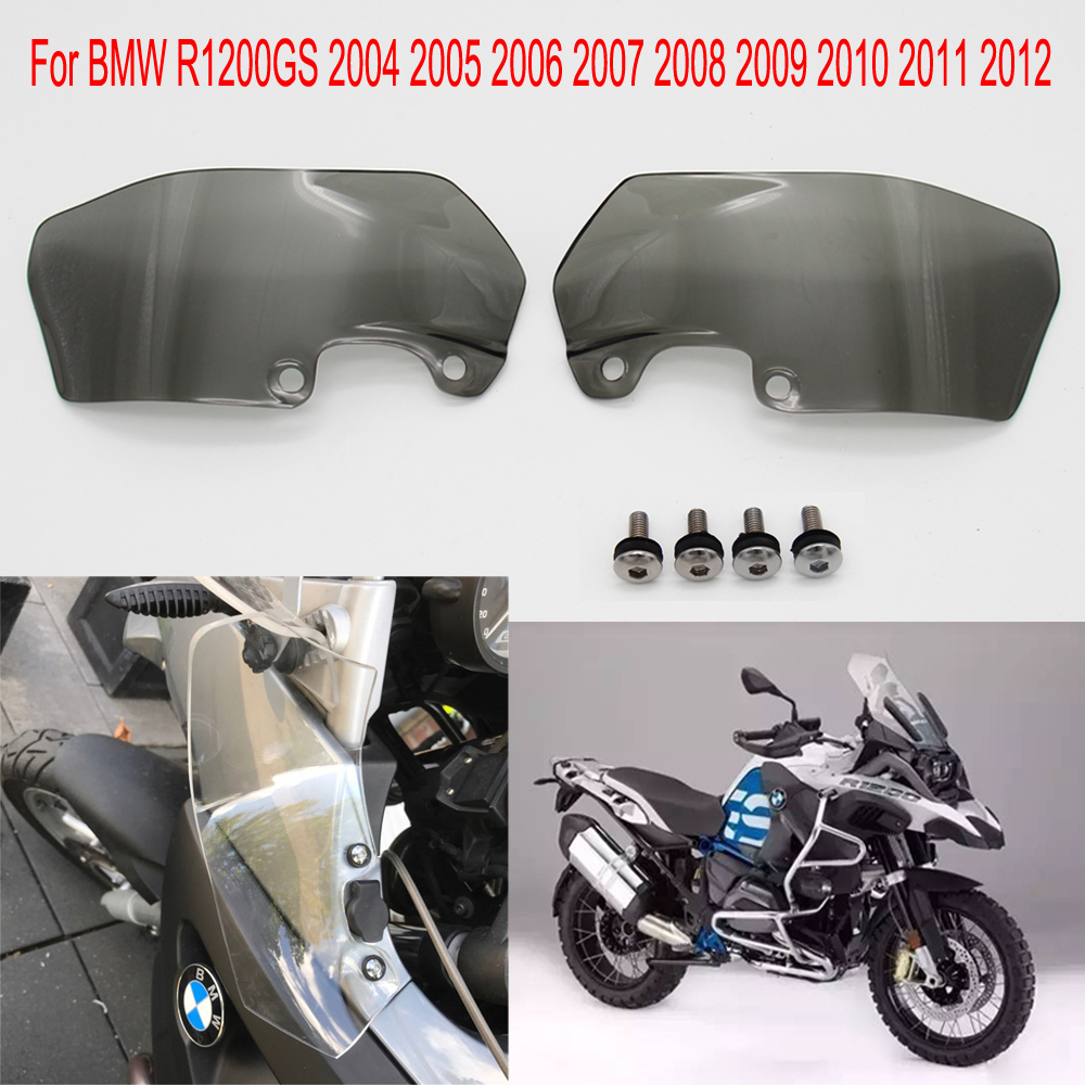 4.5mm Transparent/ Smoke Motorcycle Windshield Windscreen Ventilation plate side panels For <font><b>BMW</b></font> <font><b>R1200GS</b></font> 2006 <font><b>2008</b></font> 11 2004-2012 image