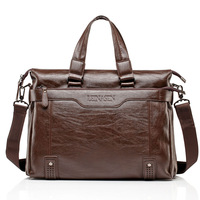 Brand Leather Bag Business Men Bags Laptop Tote Briefcases 15inch Crossbody Messenger Travel Bags Shoulder Handbags