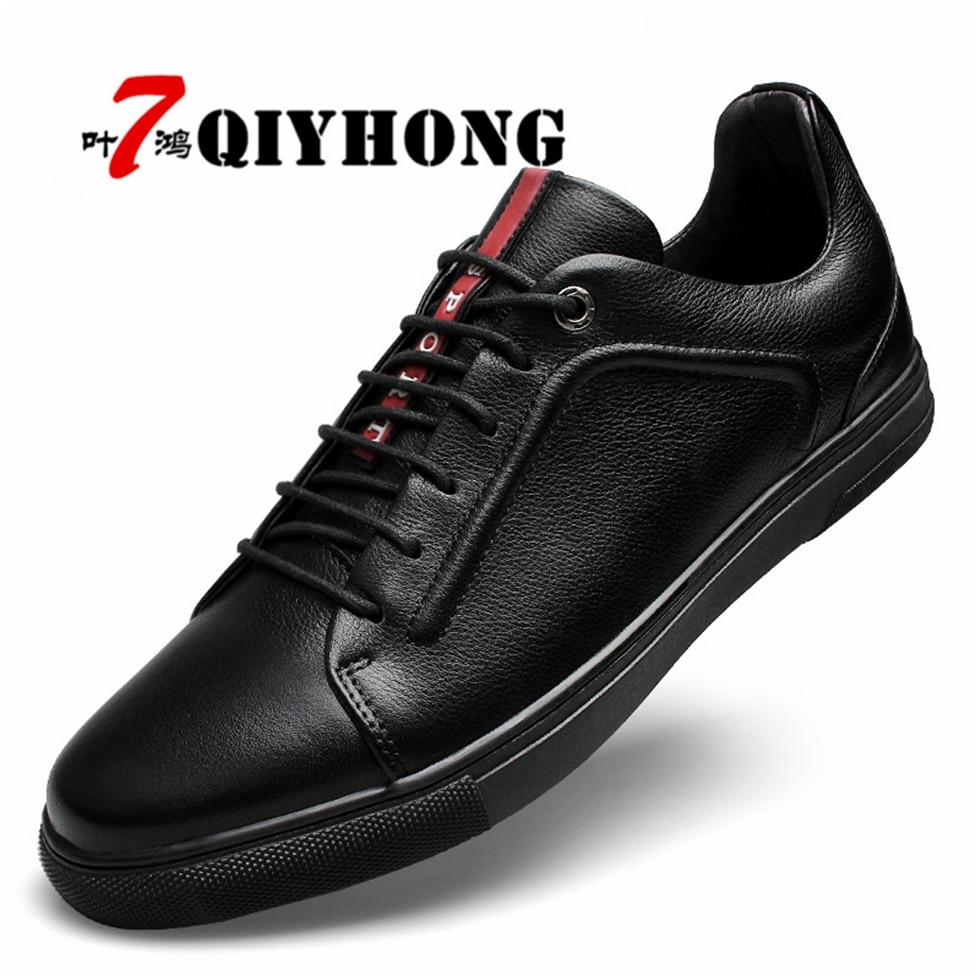 QIYHONG Luxury Brand Men Shoes England Trend Casual Leisure Shoes Leather Shoes Breathable For Male Footear Loafers Men's Flats воск beauty image воск в дисках мускатная роза 400 гр