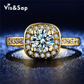 Gold plated rings AAA cz diamond Vintage engagement Wedding Rings For Women fashion Jewelry LOVERS Gifts Wholesale VSR191