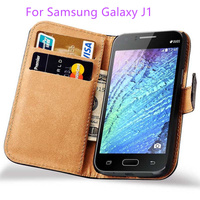 For Samsung Galaxy J1 Case SM J100F J100H Luxury Leather Covers Book Style Stand Mobile Phone