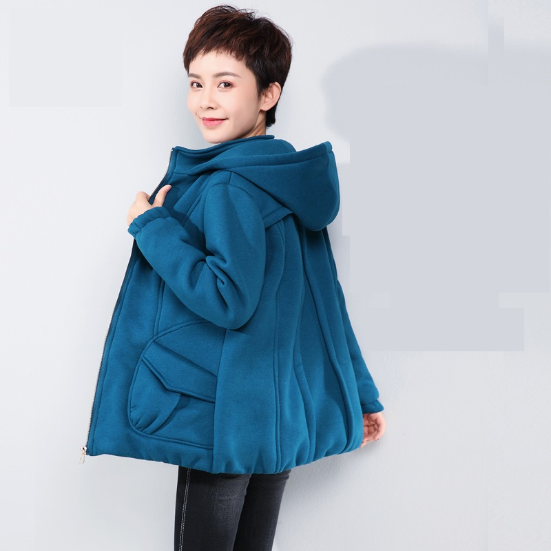 2019 New Middle-aged Mother Loose Spring Autumn Coats Korean Short Jacket Large Size Womens Windbreaker Fashion Female Outerwear