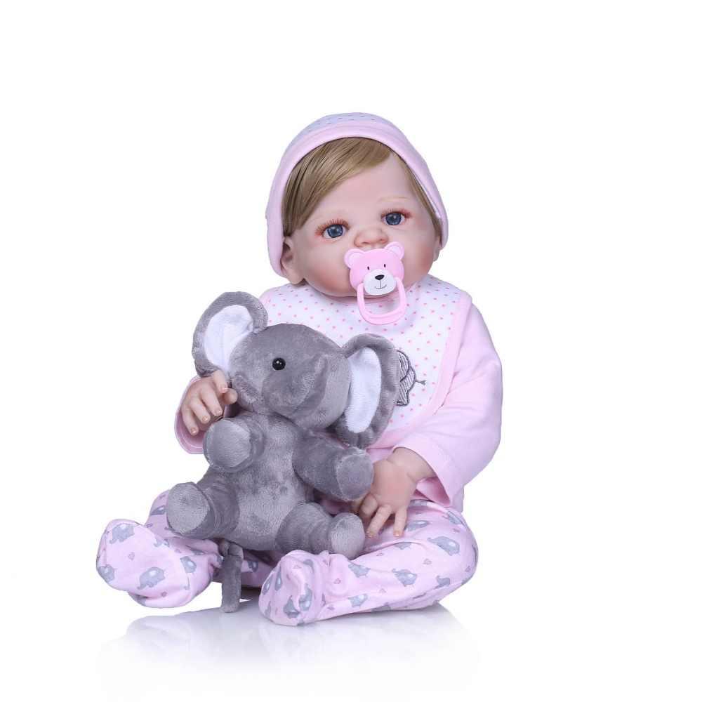 """NPK 22 """"muñeca de moda renacida de silicona de cuerpo completo de vinilo puede entrar en el baño de agua muñeca juguetes bebe regalo reborn realista renacer bebe"""