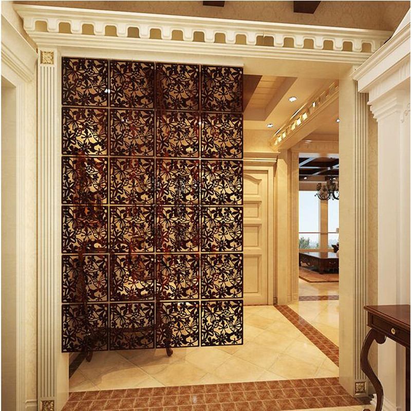 Room Dividers.Us 27 5 28 Off Room Divider Room Partition Wall Screen Room Dividers Partitions Wall Stickers Cutout Home Screen Folding Screen In Screens Room