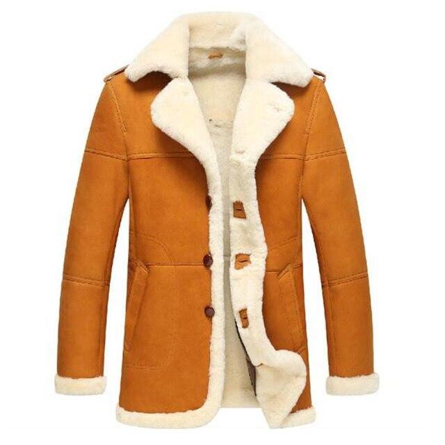 Aliexpress.com : Buy Mens Sheepskin Fur Coat Shearling Coats ...