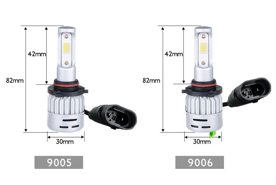 Aceersun H4 LED H7 H1 H11 H8 H9 9005 HB3 HB4 9006 Mini Car headlight 72W 8000LM COB 3000K 4300K 6500K 8000K Hi Lo Beam 12V 24V (17)