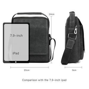 Image 5 - VICUNA POLO Vintage Frosted Leather Men Crossbody Bag With Handle Durable Fashion Business Man Bag Sling Shoulder Bags Handbag