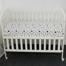 Baby Crib Fitted Sheet Pure Cotton Cute Pattern Cot Bed Sheets Newborn Baby Bedding Soft Mattress Cover Protector Two Size
