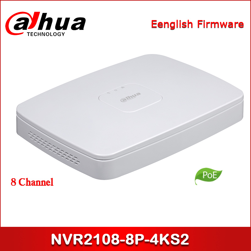Dahua POE NVR NVR2108-8P-4KS2 8 Channel Smart 1U 8PoE Lite 4K H.265 Network Video Recorder