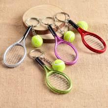 LLavero de tenis Mini con pendiente de raqueta, llavero con anilla, Finder, accesorios para adolescentes, ventilador, #1-17162
