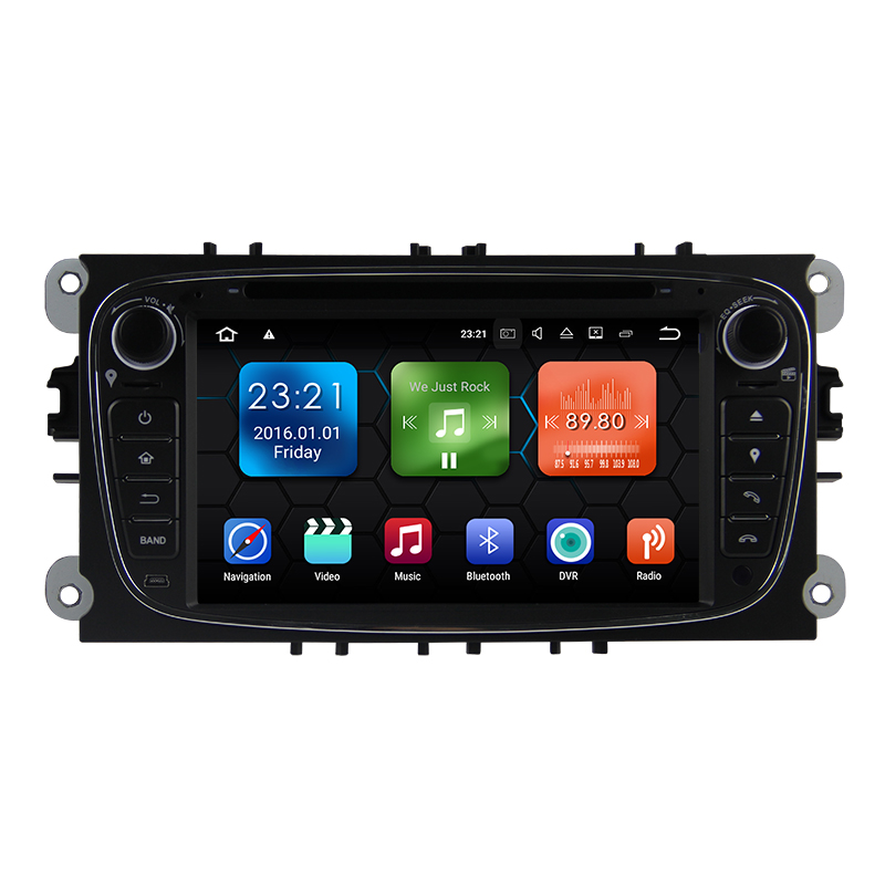 Android 7.1 Car DVD Player GPS for FORD Mondeo S-MAX FOCUS 2 Radio Navigation Bluetooth