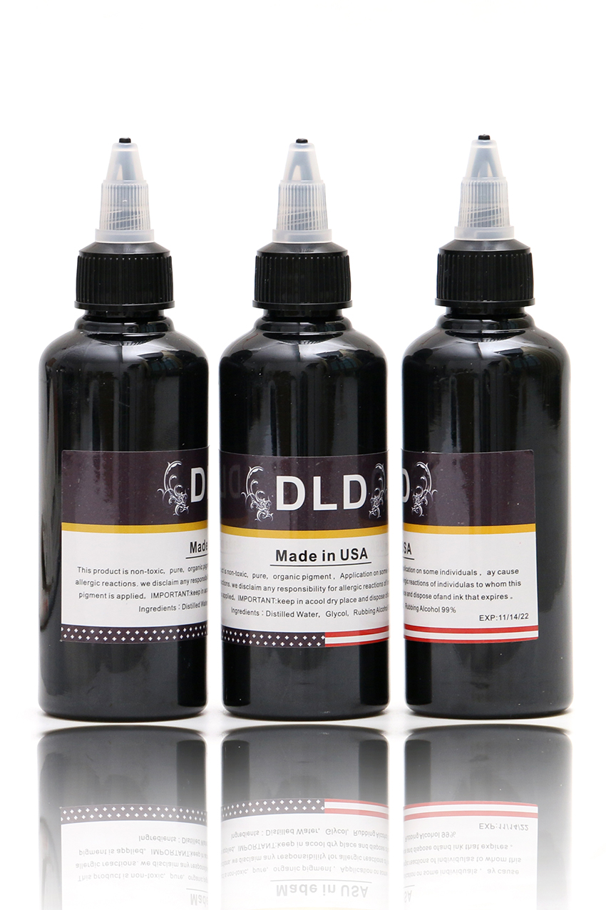 3 Bottle Airbrush Ink Black/Red/Blue/Tattoo Color for Body Paint Temporary 100ML Tattoo Ink Pigment Body Art Color _TA099 hot sale 1000ml roland mimaki mutoh textile pigment ink in bottle color lc for sale