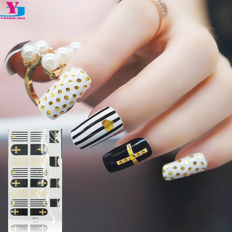 2rolls Gold Silver Fashion Transfer Foils Nail Art Stickers Manicure