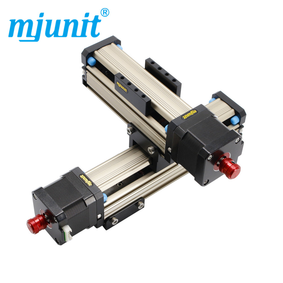 Mjunit MJ42 factory sale 200mm stroke screw drive linear motion guide xy 2axis linear rail