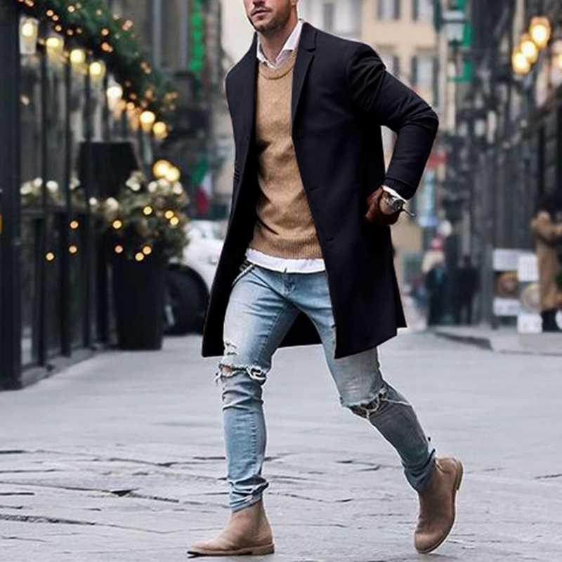 Mjartoria 2020 Winter Wool Jacket Men Blend Autumn Windbreaker Men S High Quality Wool Coat Outwear Mens Coats Jackets Male Trench Aliexpress