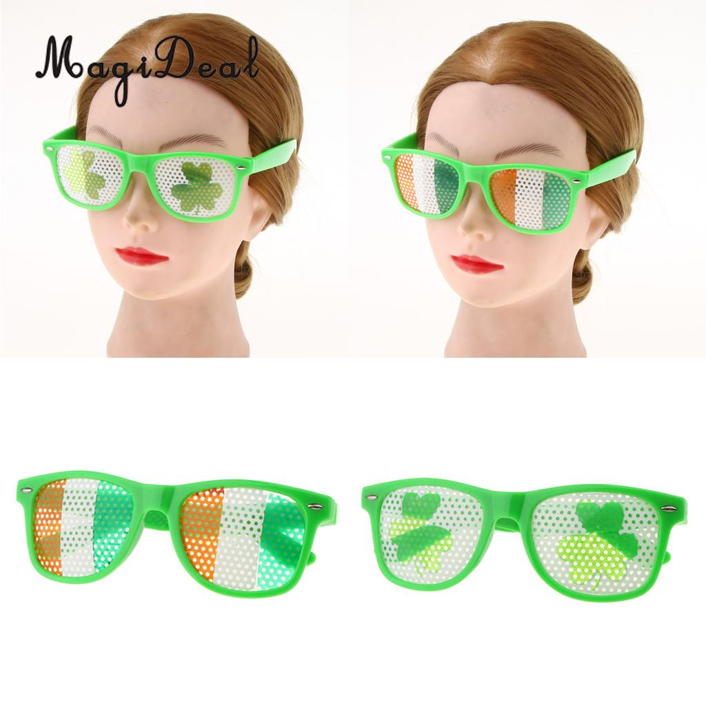 Apparel Accessories Reasonable Funny Shamrock Design Sunglasses Creative Holiday Cosplay Costume Glasses Accessory
