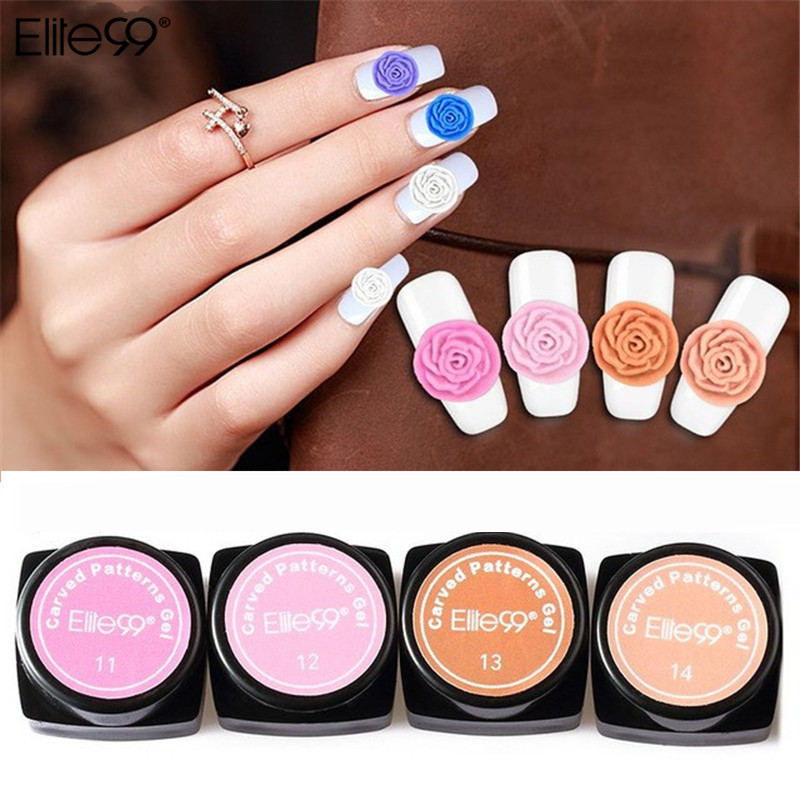 Elite99 Nail Art Design 3d Uv Led Color Gel Diy Nail Beauty Plasticine Gel 3d Modeling Sculpture