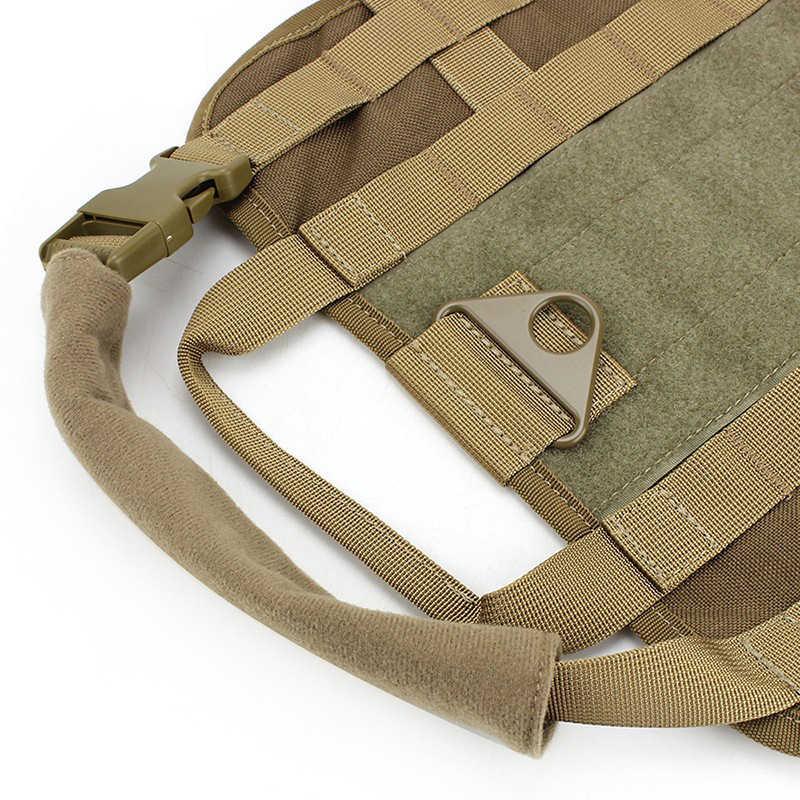 Police K9 tactique formation chien harnais militaire Molle v-elcro gilet Packs manteau 4 couleur XS-XL