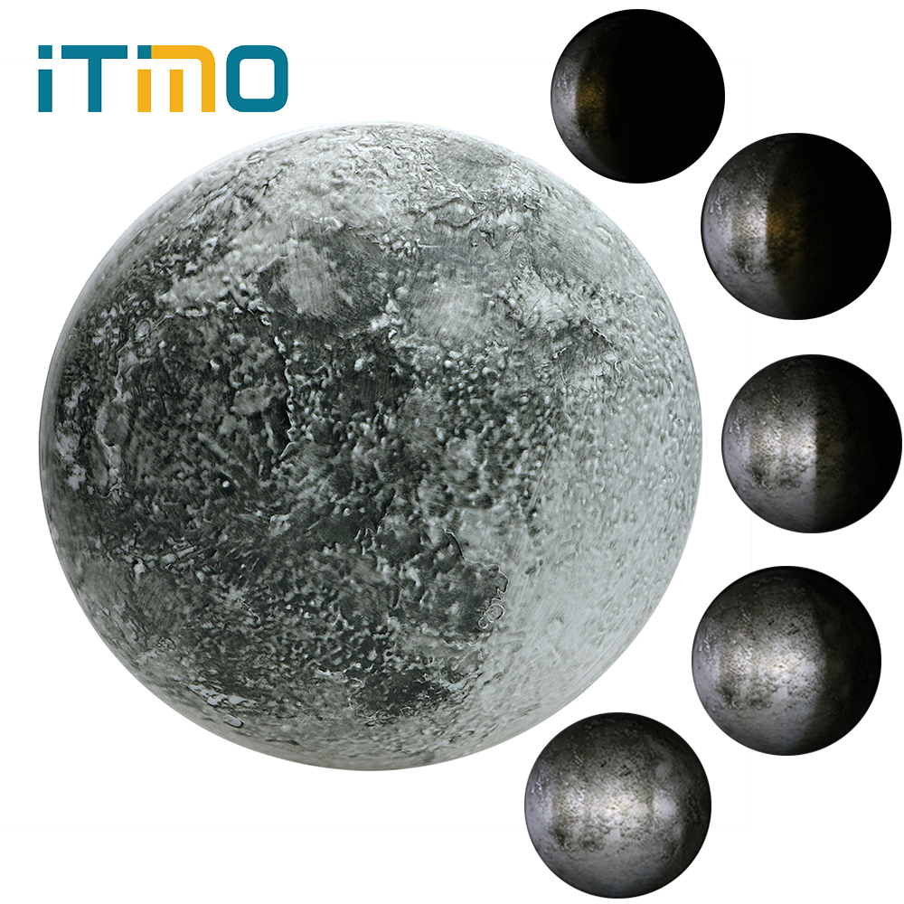 ITimo Healing Moon Lamp LED Night Light Wall Lamp Novelty Lighting Gift For Kids With Remote Control Indoor Lighting Moon Light itimo novelty led lamp smile kids christmas gifts indoor lighting plastic for baby room rainbow night light battery night lamps